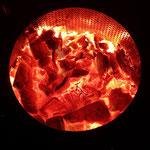 Feuerstelle Trommel Glut