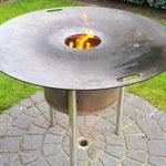 Feuerplatte sauberbrennen