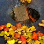 Feuerplatte Grillgemüse