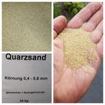 Quarzsand 0,4-0,8mm Körnung,Feuergetrocknet