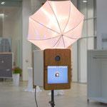 Fotobox mit Blitzschirm