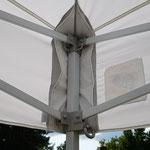 Pavillon weiß Eckverstärkungen innen