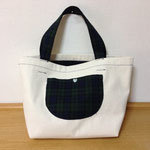 Black Watch × Canvas Reversible Tote Bag