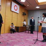 選手代表あいさつ 埼玉栄高等学校 陸上競技部 土井杏南さん