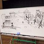 看板建築について即席スケッチで解説