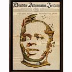 Bayume Mohamed Husen, 2014 (Öl auf historische Zeitung, 34,5 x 50 cm)