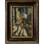 NY 9/11, 2011 (Öl auf Zeitung, 10 x 15 cm)