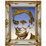 Abraham Lincoln, 2009 (Öl auf Leinwand, 24 x 30 cm)