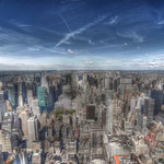 Big Apple leicht grunge, 12 mm HDR an Vollformat Empire State Building