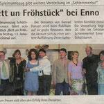 """Bericht Theater """"Bett un Fröhstück"""" (Quelle: Hadler Kurier 11.01.2012)"""
