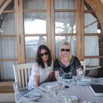 Posh and Geri having breakfast at Princesa Yaiza in Lanzarote
