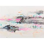 Circulation - Zirkulation II, 2018, Ink and acrylic on paper, 50 x 93 inches