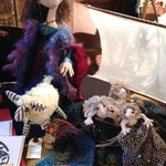 "Creative characters & animals, hand-sewn by ""Incipient Madness""."