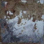 Virgilio Patarini, La caduta di Berlino (B side), t-m- e cemento su tela, cm 100x100, 2011