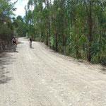 - mountainbiken naar de stuwdam -