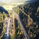 Blick auf Fernpass aus 112 m Höhe