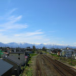 Railway with 日高山脈02