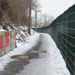 Frankfurt Gallus - Fußgängerweg - Wallauer Str. / Schmidtstr.