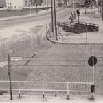 18.August 1961. Potsdamer Platz, auch hier sind die Zufahrtswege zugemauert worden.