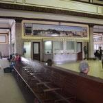 La estación de ferrocarriles por dentro