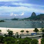 Praia de Botafogo 2011, computergeneriertes Panorama aus 3 Einzelbildern