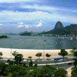 Rio - Praia de Botafogo, 2011, Panoramabild aus 3 Einzelaufnahmen