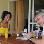 Erstes Fruehstueck auf Curacao