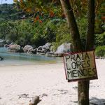 Wegweiser zum Strand Lopez Mendes