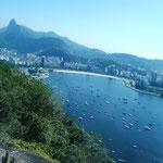 Blick vom Zuckerhut Richtung Corcovado, 07.07.2009