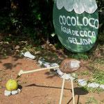 Werbung für Agua de Coco, Fernando de Noronha, 13.10.2010