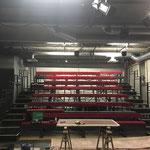 Nouveau gradin / Salle de l'atelier - Janvier 2019