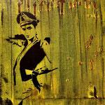 oma I spraypaint, acryl, 30x30 cm