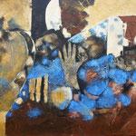 La mère dans la rue - 60x80 - Acrylique - 2010