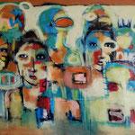 Les déportés -122 cm x76 cm Acrylique ,Mixte -2019
