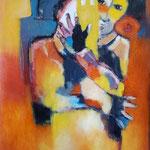 """"""" Protectrice """" 116 x 89 cm  Acrylique , Mixte - 2020"""