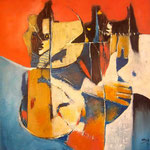 Tend-moi la main - 60x60 - Acrylique - 2012 (VENDUE)