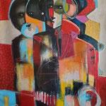 """"""" Ma destinée """"  131 x 98 cm -  Acrylique , Mixte  - 2020"""