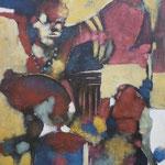 Passage sur terre - 65,5x80 - Acrylique - 2010 (VENDUE)