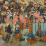 La voix du peuple - 172x82.5 - Acrylique - 2015