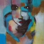 """ Ma douce ""  98 x 47 cm - Acrylique , Mixte - 2020"