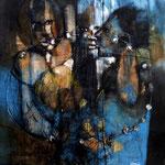 Un amant amoureux - 60x76 - Acrylique - 2014  (VENDUE)