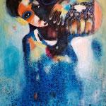 """"""" Porteuse """" 116 x 80 cm - Acrylique , Mixte  - 2020"""