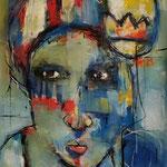 Femme lumière 1- 89 cm × 55 cm - Acrylique, Mixte - 2019