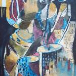 Ecoute rire la liberté - 117x61,5 - Acrylique - 2012 (VENDUE)
