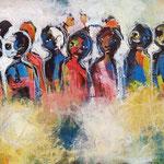 Notre continent -25 cm x 72 cm - Acrylique , Mixte -  2018