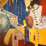 Affaire de papier - 45x75 - Acrylique - 2012