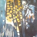 L'homme blanc - 65x85  - Acrylique - 2012
