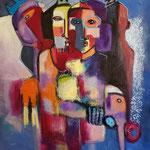 """"""" vers l'espoir """" 103 x 90 cm - Acrylique , Mixte - 2020"""