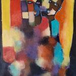 """"""" Chapeau du chef """"  116 x 81 cm - Acrylique , Mixte - 2020"""