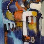 Les hommes de couleurs  - 92 cm x 47 cm - Acrylique , Mixte - 2018